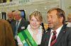 Milchprinzessin Kirsten I. in Begleitung von SLB-Präsident Wolfgang Vogel