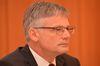 Dr. Georg Müller gibt die Übernahme des Windprojektentwicklers Windwärts bekannt. Foto: Peter Gaß