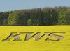 Eindrucksvoll: Der KWS-Schriftzug in einem Rapsfeld