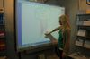 Sarah am interaktiven Panasonic Board
